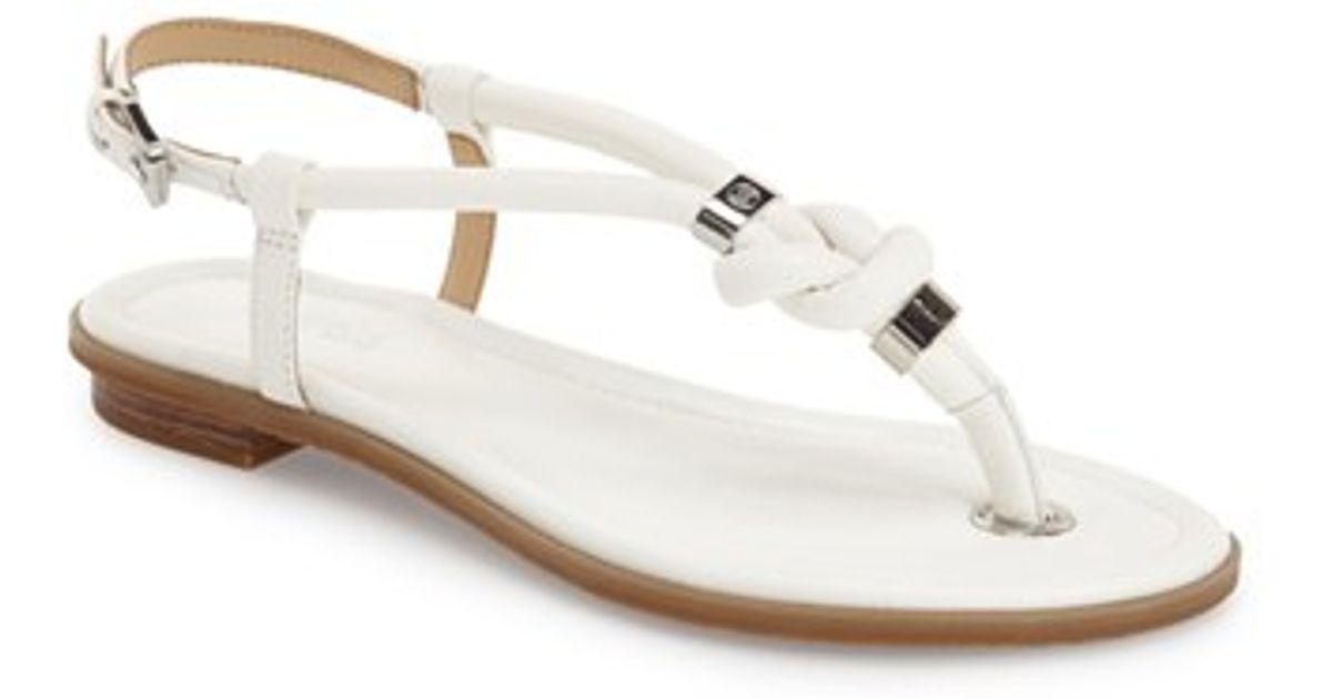 Kors Leather Sandals Michael Holly White QdeErBoCxW