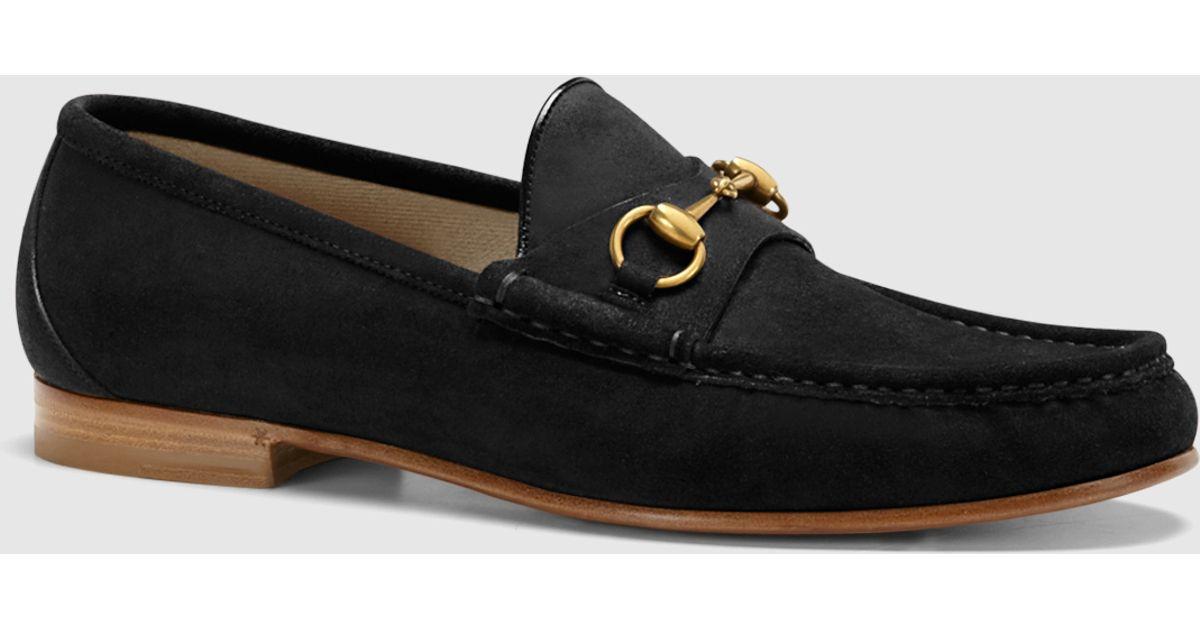 91b0997e Gucci Black 1953 Horsebit Loafer In Suede for men