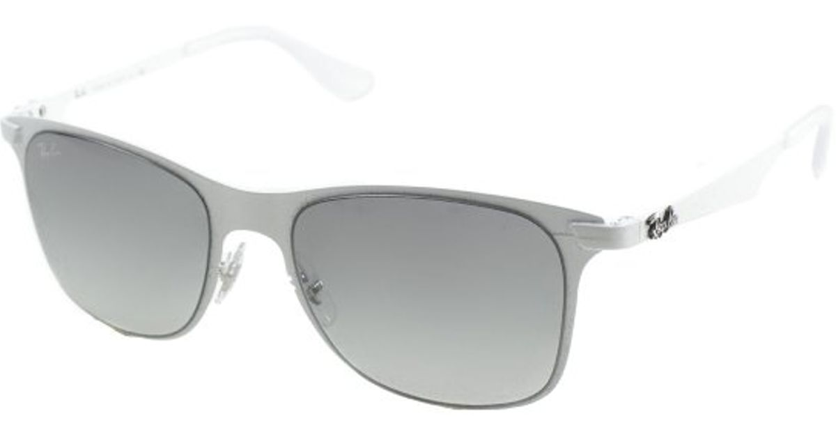 d1e0918654 Lyst - Ray-Ban Ray Ban Rb3521 Flat Metal Wayfarer 163 11 Metal Sunglasses  in White