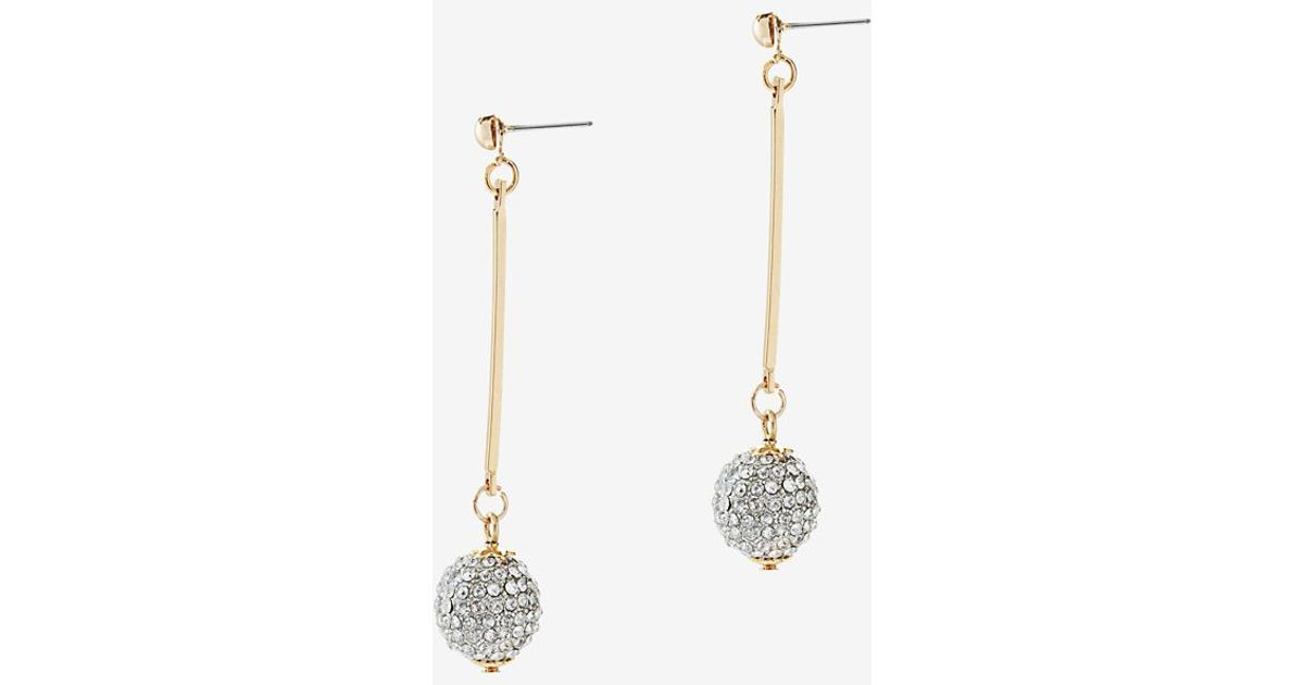 7e9aa6a47243f Pave Crystal Ball Drop Earrings - Best All Earring Photos ...