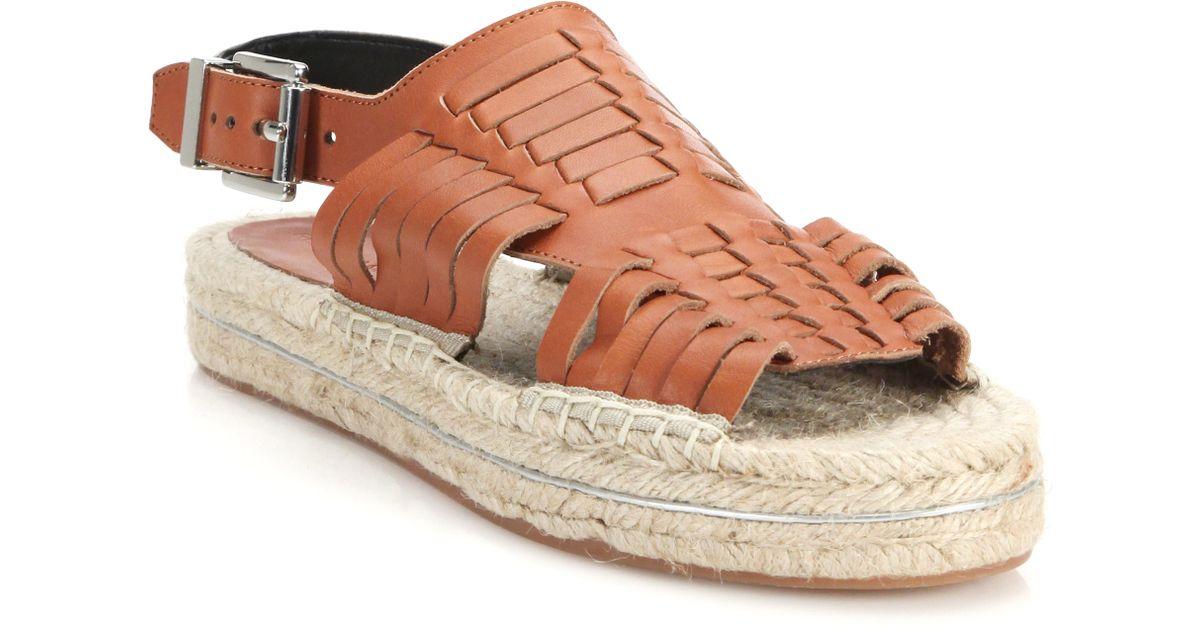 d7ccc63aa39b Lyst - Rebecca Minkoff Gabriel Huarache Leather Espadrille Sandals in  Natural