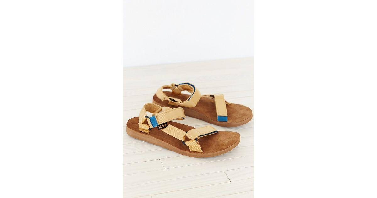 2087f5842a92 Lyst - Teva Suede Original Universal Men s Sandal in Natural for Men