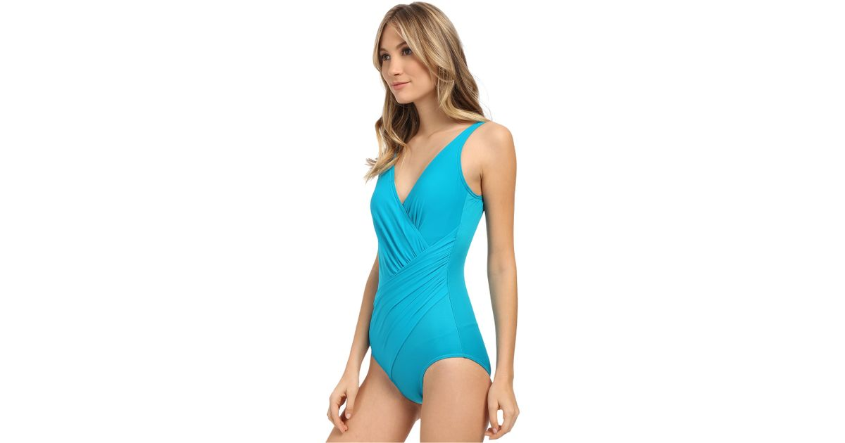 09fb9a4282 Miraclesuit Must Haves Oceanus One-piece in Green - Lyst
