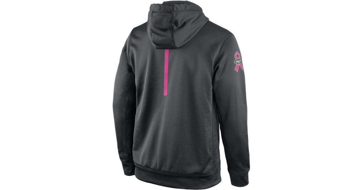 eb326476d Lyst - Nike Men's New York Jets Breast Cancer Awareness Ko Hoodie in Gray  for Men
