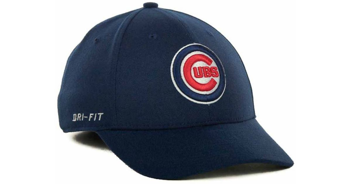 detailed look 55260 8edf3 ... sweden lyst nike chicago cubs dri fit swoosh flex cap in blue for men  1259d 33405