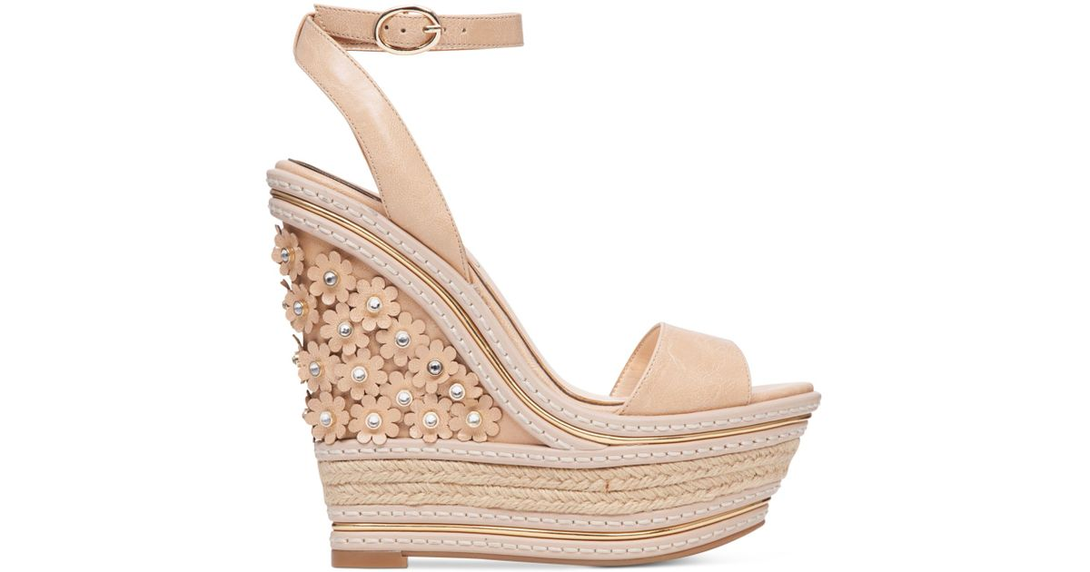 Ameka Sandals Jessica Wedge Simpson Natural Piece Two dCtQshr