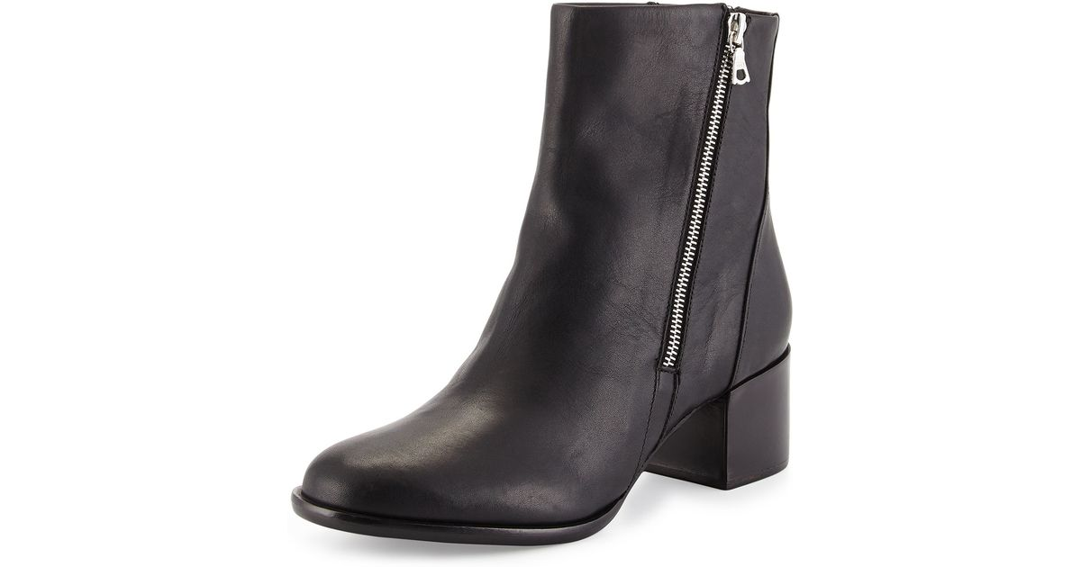 Bone Avery Low-heel Leather Ankle Boot