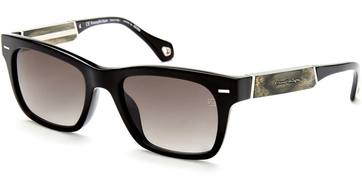 2b03821d4a Ermenegildo zegna Sz3652M Black Wayfarer Sunglasses in .