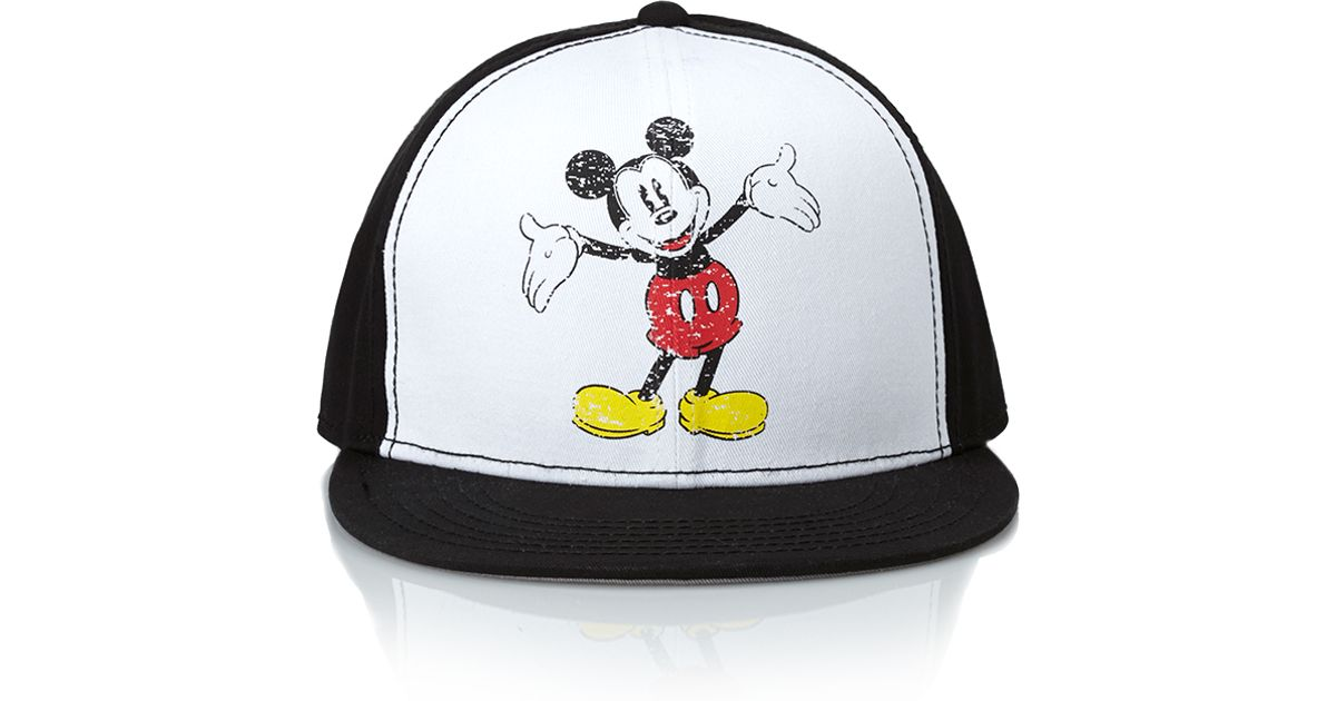 b63897005ff33 Forever 21 Mickey Mouse Snapback Hat in White for Men - Lyst