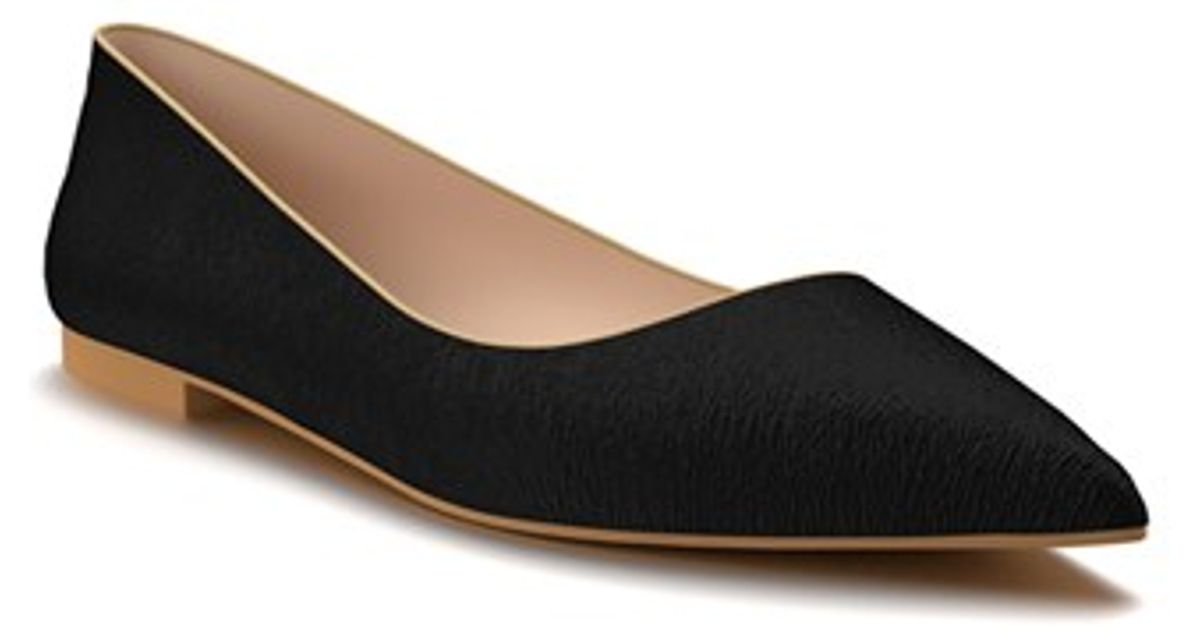 shoes of prey pointy toe flat in black lyst