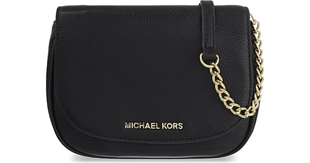 1a2de669729e07 ... top quality lyst michael michael kors bedford small leather cross body  bag in black 8a48a 82ca0