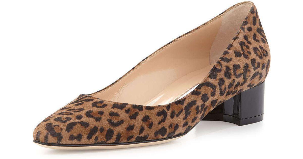 Manolo Blahnik Listony Leopard-Print
