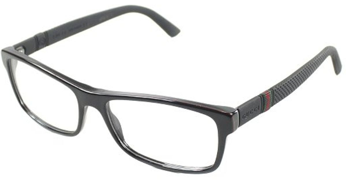 Gucci Gg 1066 4Up Black Red And Green Plastic Eyeglasses-56Mm in ...