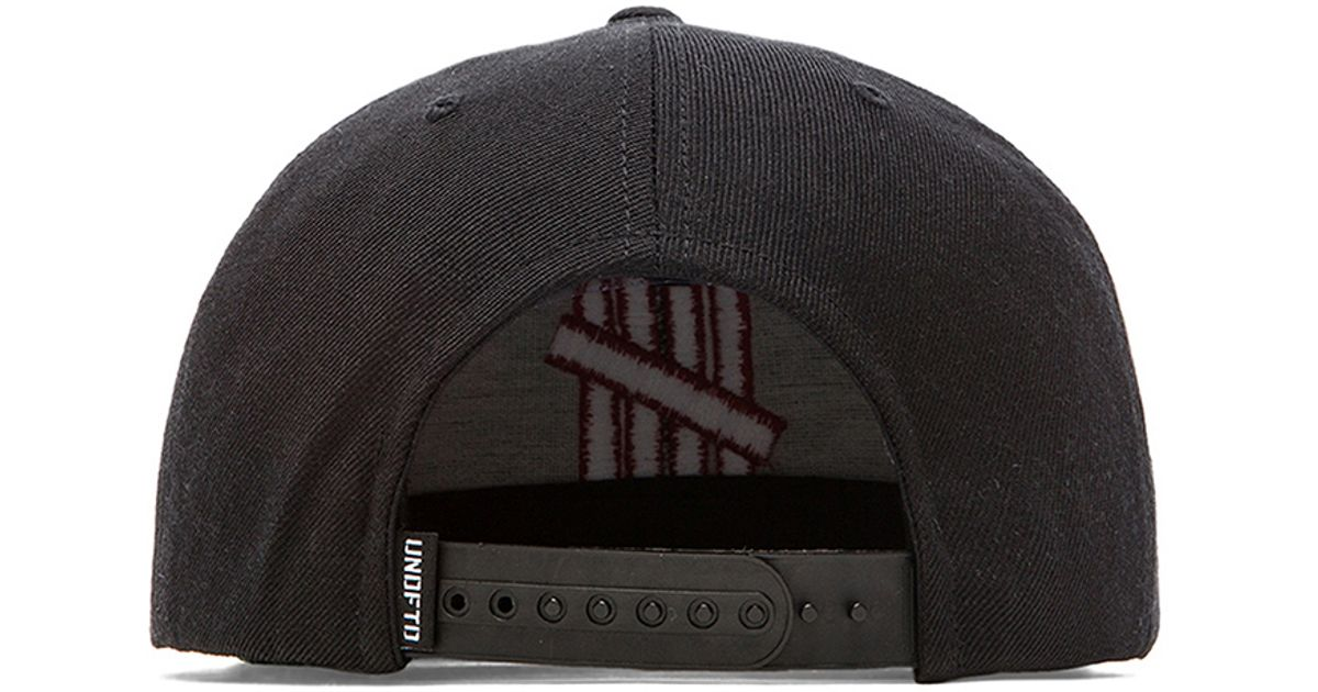 0292887b7 Undefeated Black 5 Strike Snapback for men