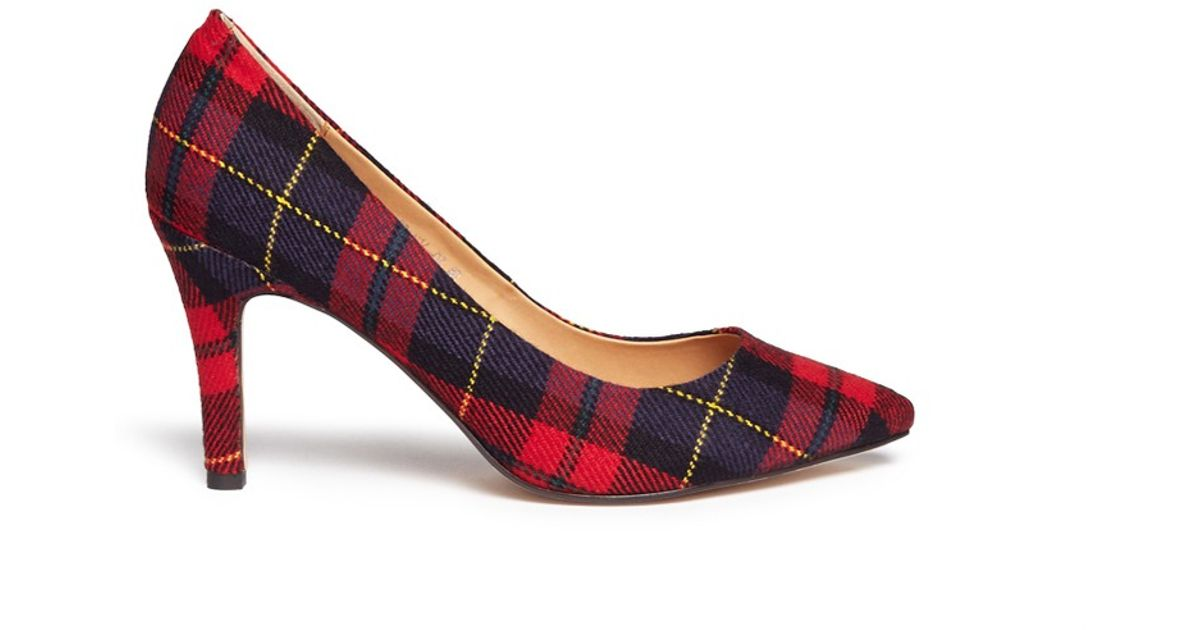 for whole family new products special for shoe Pedder Red Red Tartan Plaid Pumps