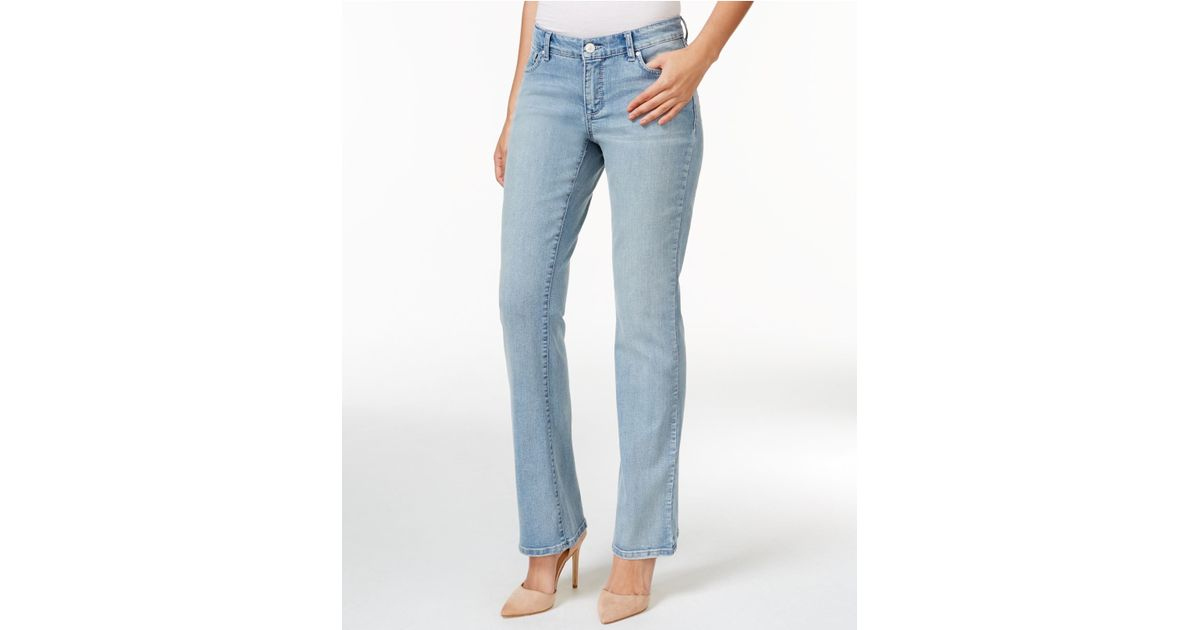 Vintage America Boho Bootcut Jeans In Blue Muse Taber