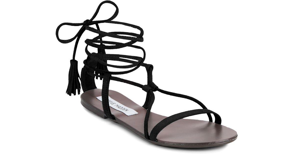 Image result for tie up black sandals