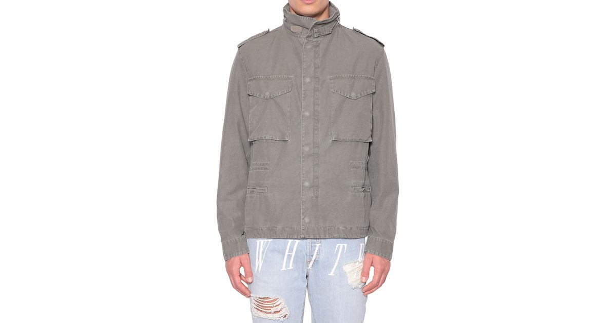 20eac13dca27 Lyst - Off-White C O Virgil Abloh Canvas Jacket With Hood in Green for Men