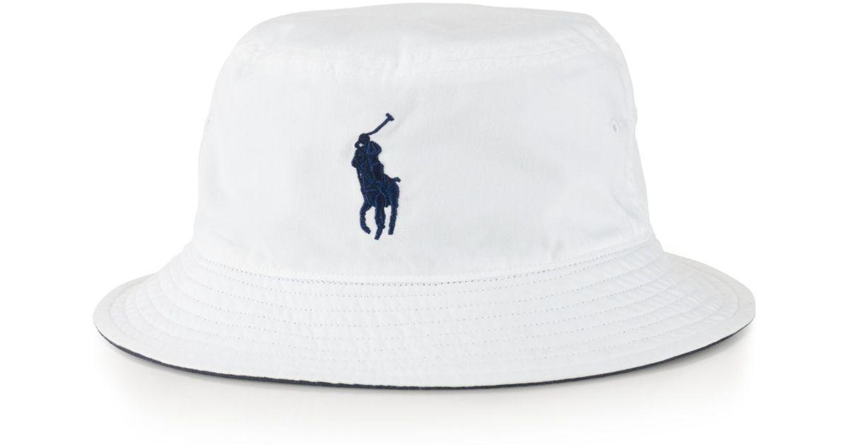 6b3de5d8756 Lyst - Polo Ralph Lauren Us Open Chino Bucket Hat in White for Men