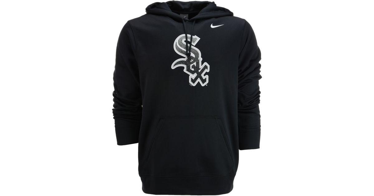 buy popular 612af caccd Nike Black Mens Chicago White Sox Logo Performance Hoodie for men
