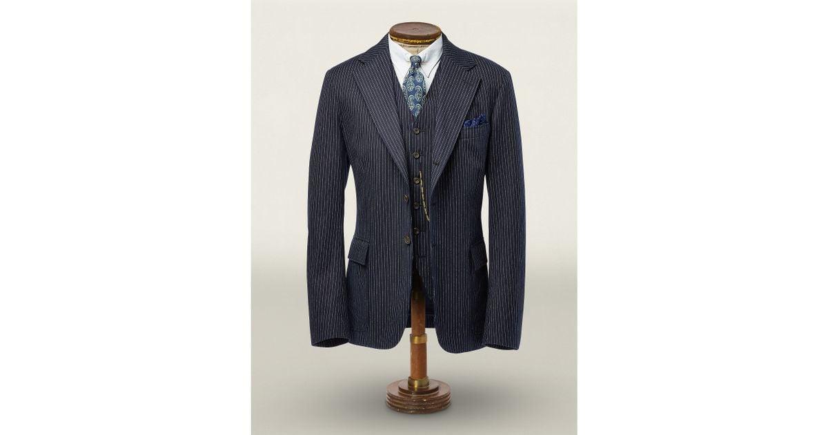 Rrl Herringbone Suit Jacket in Black for Men   Lyst