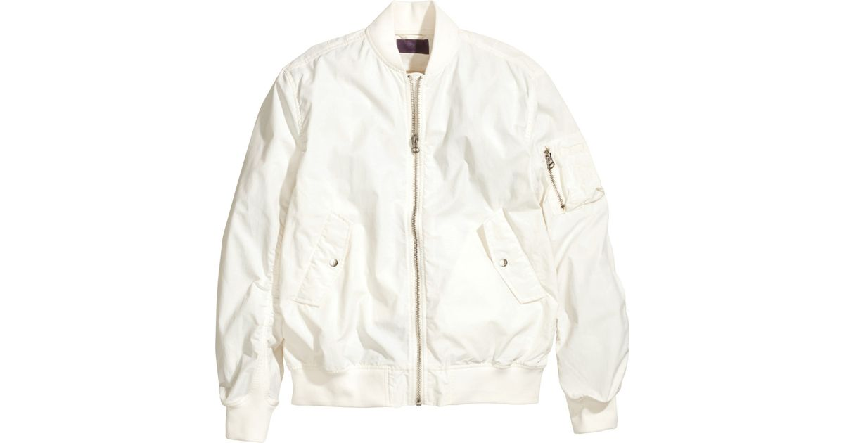 09f2e7c28 H&M White Bomber Jacket for men