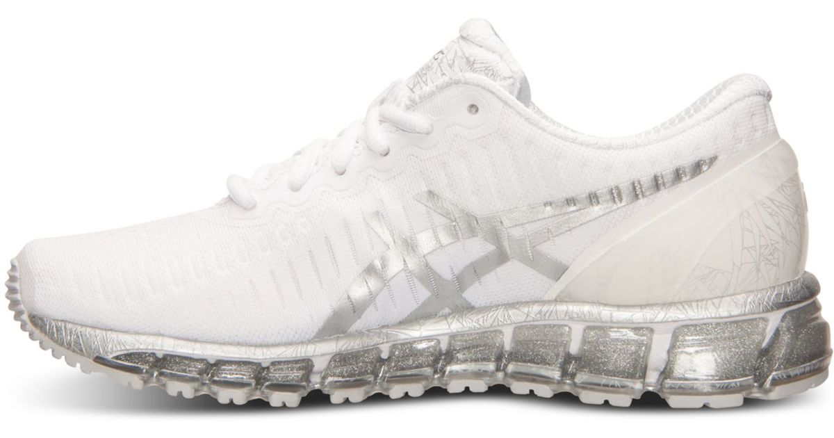 b2d3b89aaf56 Lyst - Asics Women s Gel-quantum 360 Running Sneakers From Finish Line in  White