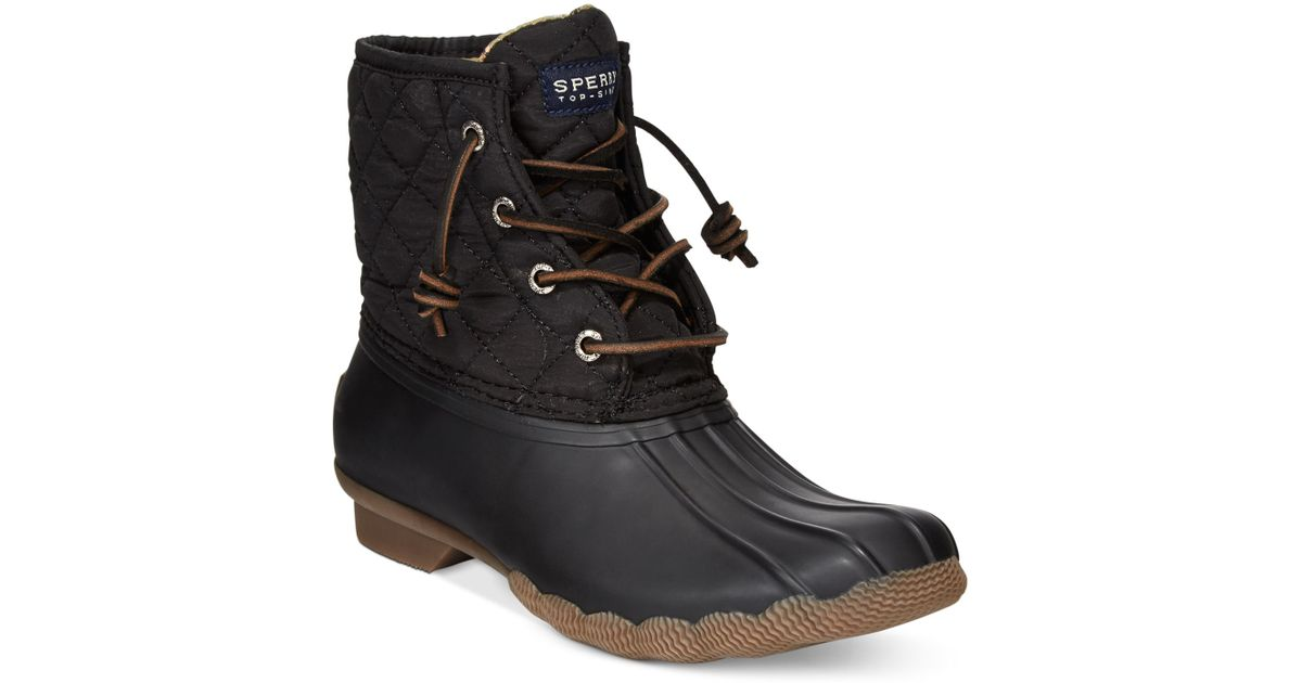 Sperry Top Sider Saltwater Water Resistant Quilted Boots