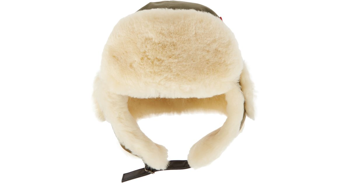 Canada Goose langford parka sale discounts - Canada goose Canvas And Shearling Hat in Green (Army green) | Lyst