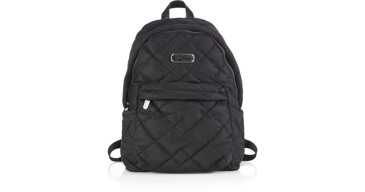 4194f96ad6baf Lyst - Marc By Marc Jacobs Crosby Quilted Nylon Backpack in Black
