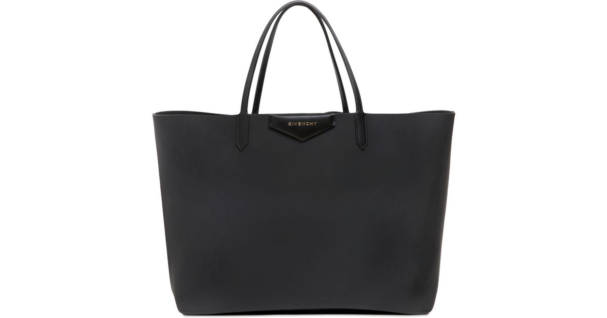 Givenchy Black Large Antigona Rubber Effect Tote Bag