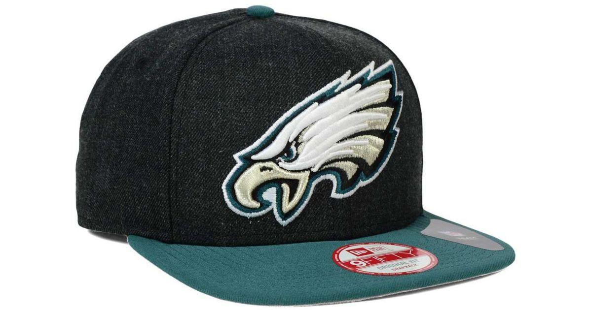 61d17aa6 KTZ Green Philadelphia Eagles Logo Grand 9fifty Snapback Cap for men