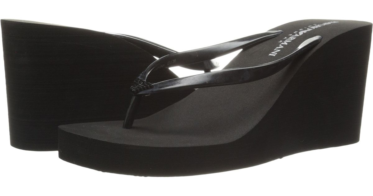 2665b4534399 Lyst - Emporio Armani Mix And Match Flip-Flop in Black