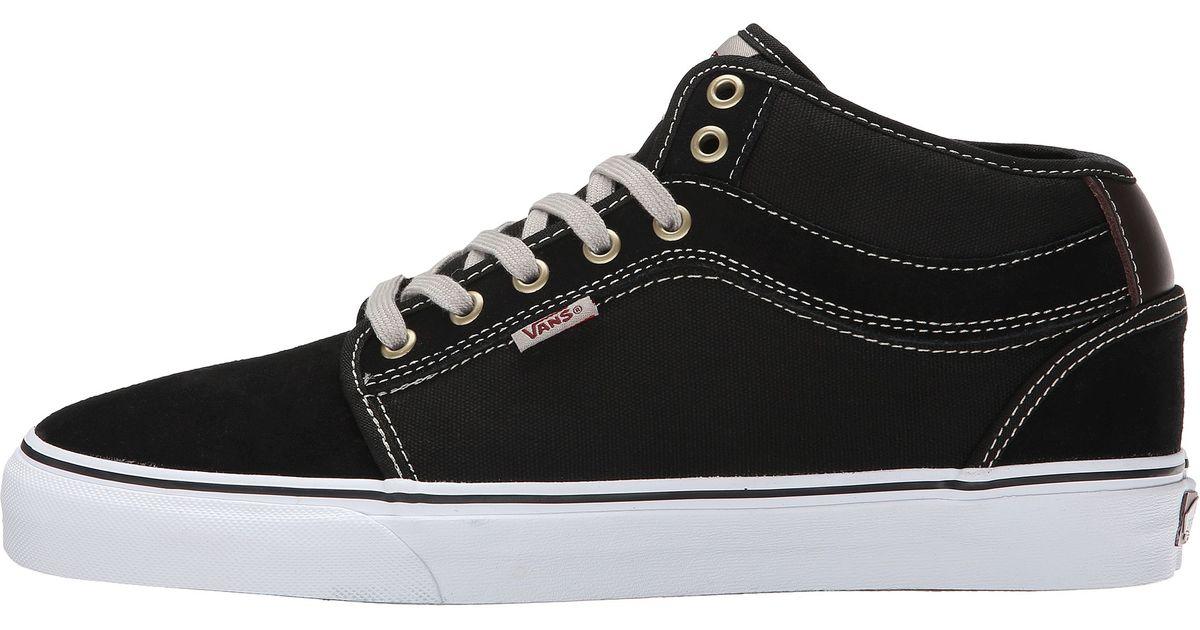 ac0262fd2878 Lyst - Vans Chukka Mid Top in Black for Men
