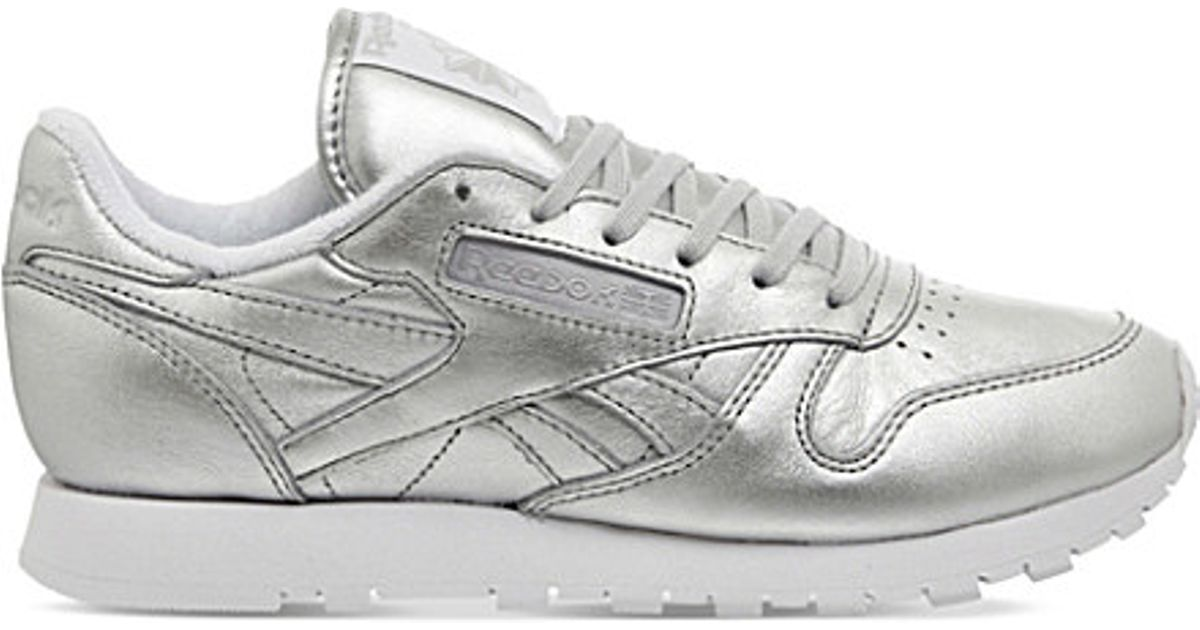 Reebok In Leather Classic Metallic Lyst Trainers pxqFwBB