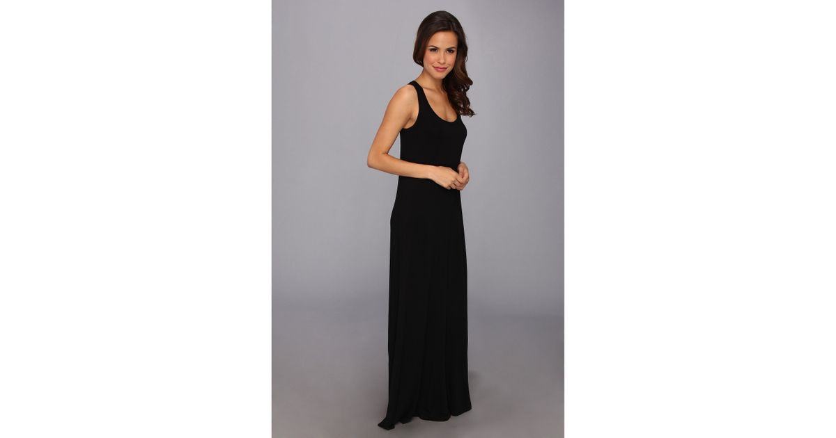 Michael stars Sonia Tank Maxi Dress in Black | Lyst