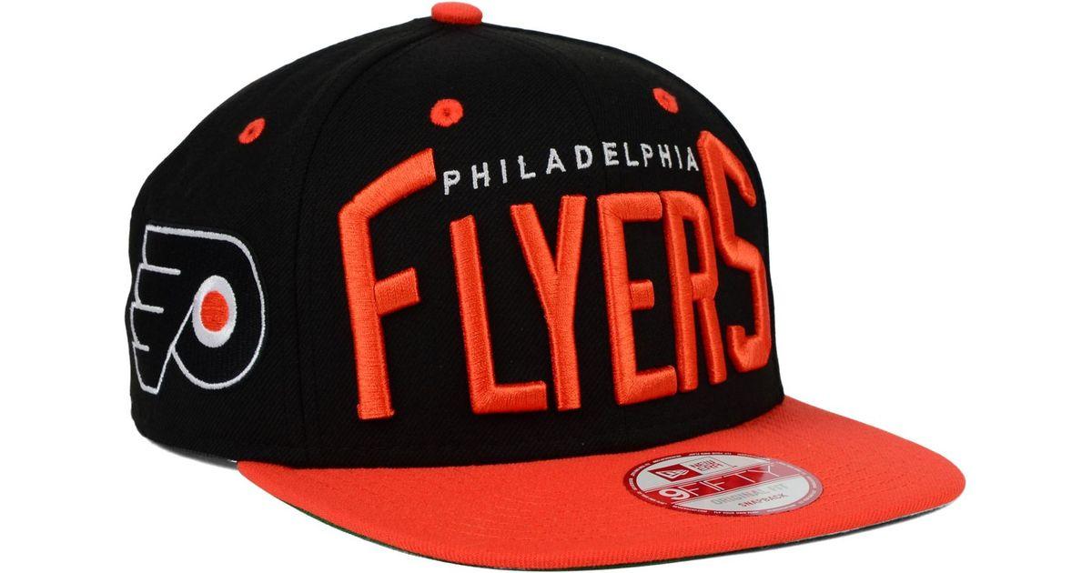 ad54df00 KTZ Black Philadelphia Flyers Vintage Big Word 9fifty Snapback Cap for men