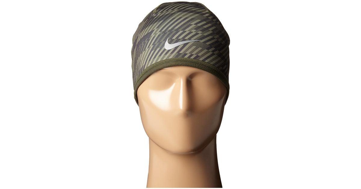 Lyst - Nike Run Hazard Beanie in Natural 16ea27d677a
