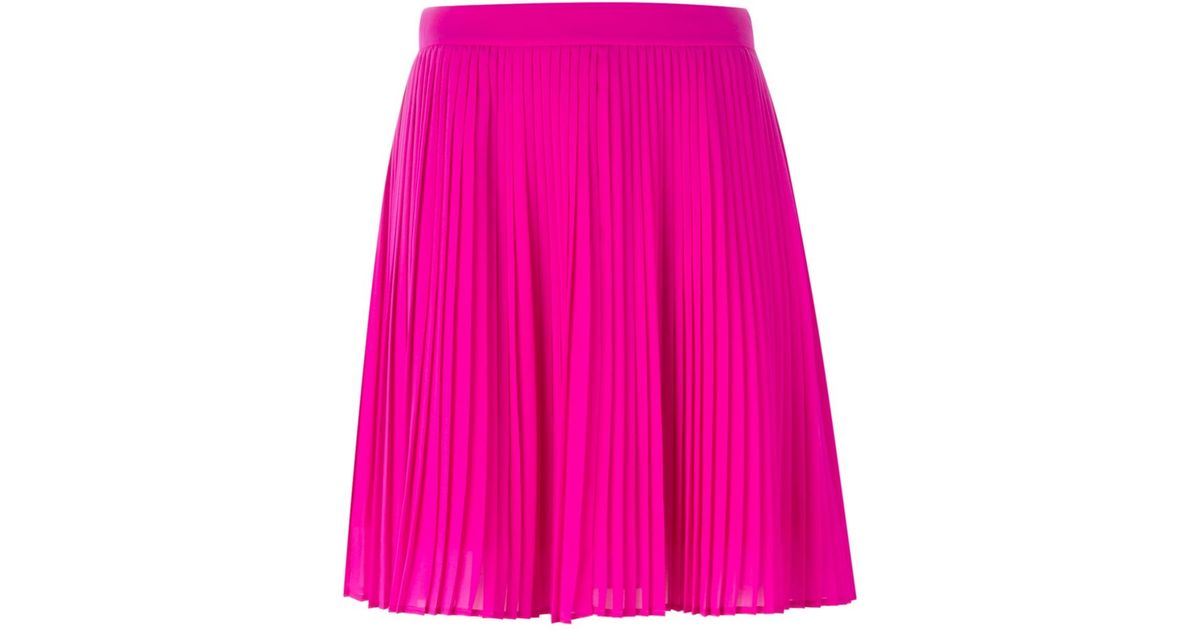 kenzo pleated skirt in pink lyst