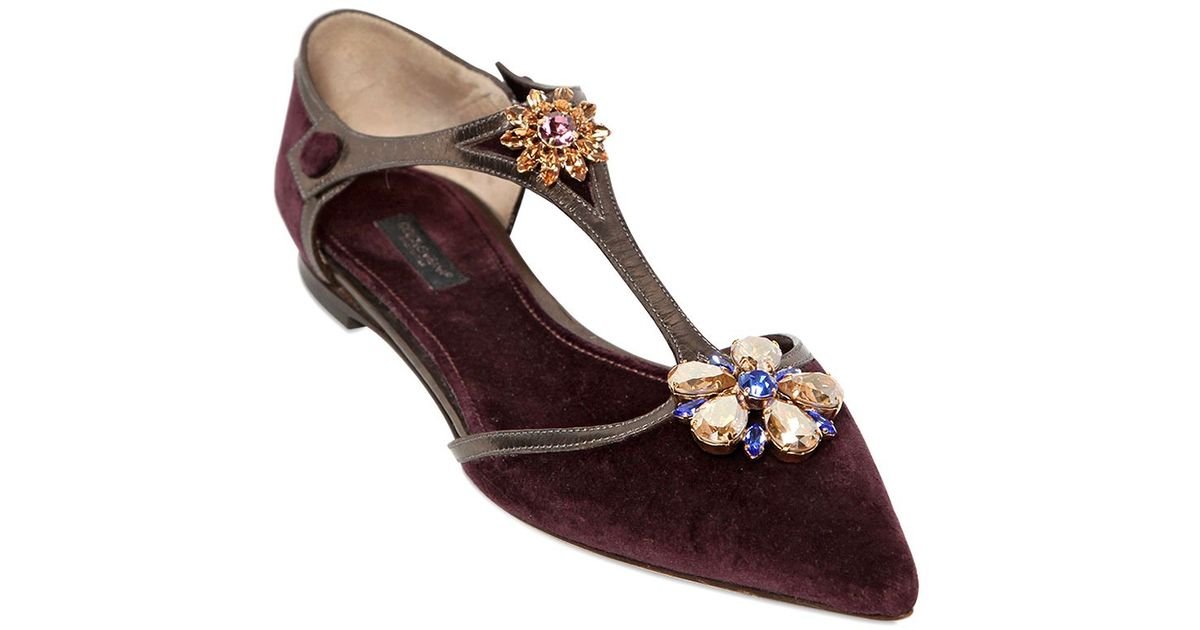 Dolce & Gabbana Velvet Flats Discount Visa Payment Buy Cheap Pay With Paypal Cheap Sale Buy From China Online Sale Wholesale Price aJ7rH1Hbu2