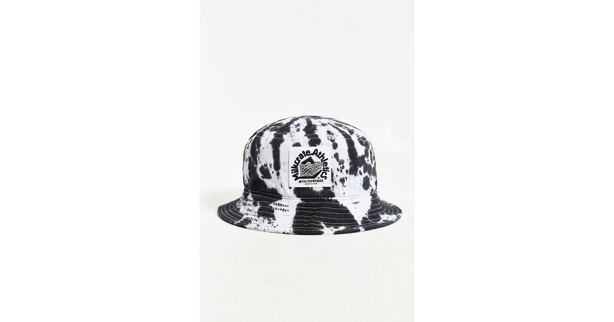 72d127d209d Lyst - Milkcrate Athletics Black + White Tie-Dye Bucket Hat in Black for Men
