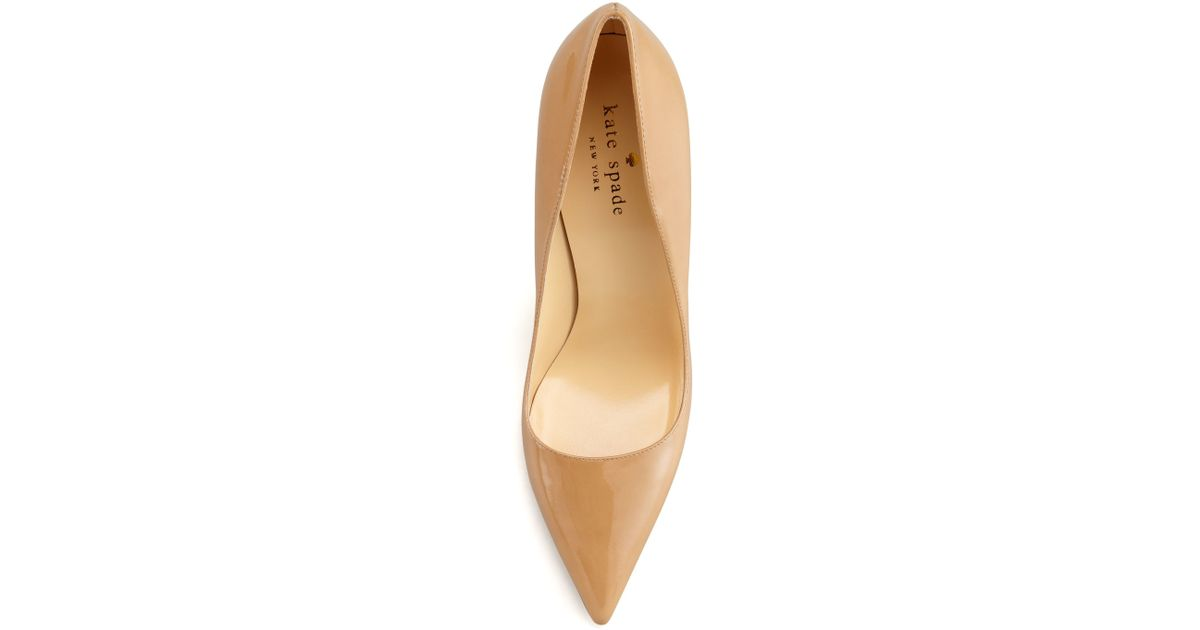 11d00eebffd9 Lyst - Kate Spade Licorice Patent Pointed-toe Pump in Natural