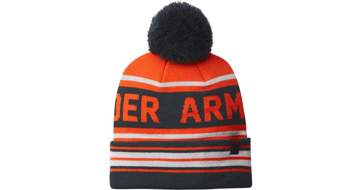 47f1a011aa33e ... italy stocking cap royal blue yellow 400 ebay under armour retro pom  beanie in orange for