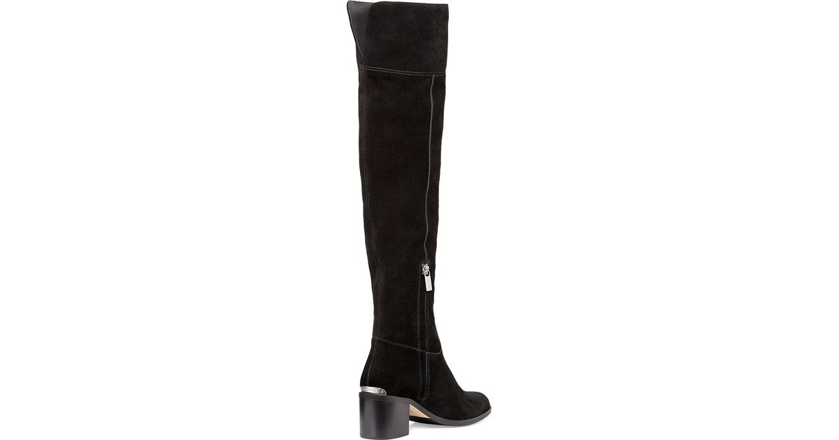 2212f32cff35 Lyst - MICHAEL Michael Kors Paulette Suede Over-The-Knee Boots in Black