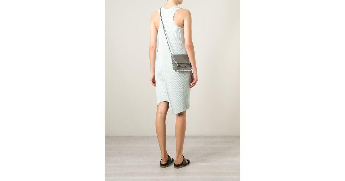 ec8eee809a Lyst - Stella McCartney  Falabella  Crossbody Bag in Gray
