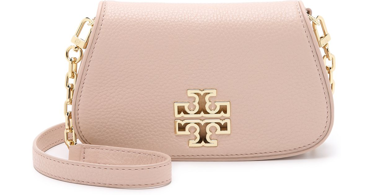 5ca20194d38 Lyst - Tory Burch Britten Mini Cross Body Bag - Red Agate in Natural