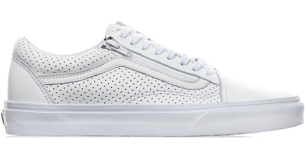 vans white leather