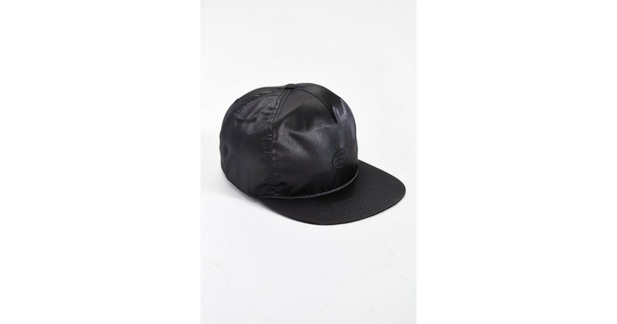 e46c85081039a0 Stussy Lux Satin Snapback Hat in Black for Men - Lyst