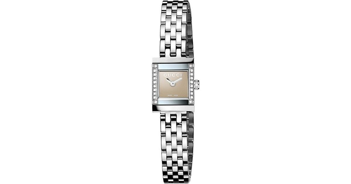 07bd9fd7e7e Gucci Ya128508 G-frame Stainless Steel And Diamond Watch - For Women in  Metallic for Men - Lyst