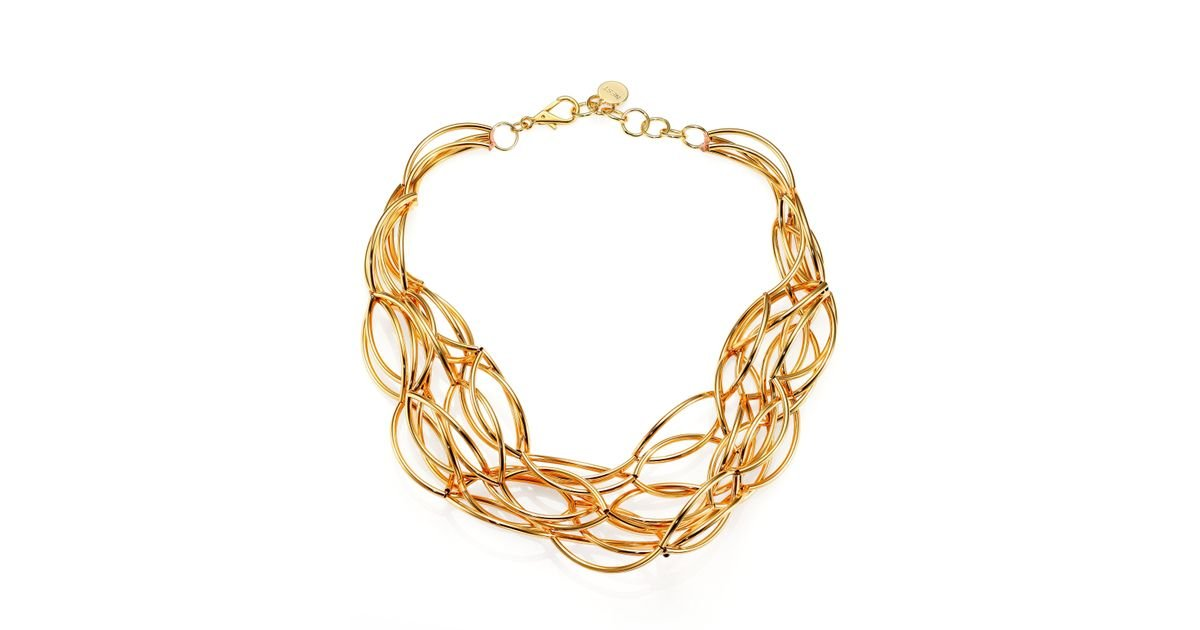 Nest Metallic Twisted Collar Necklace